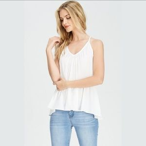 Tops - Rutched Halter Flowy Top